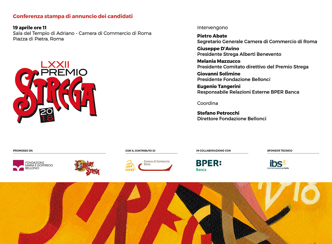 Giovedì 19 aprile ore 11 - annuncio dei candidati al LXXII Premio Strega