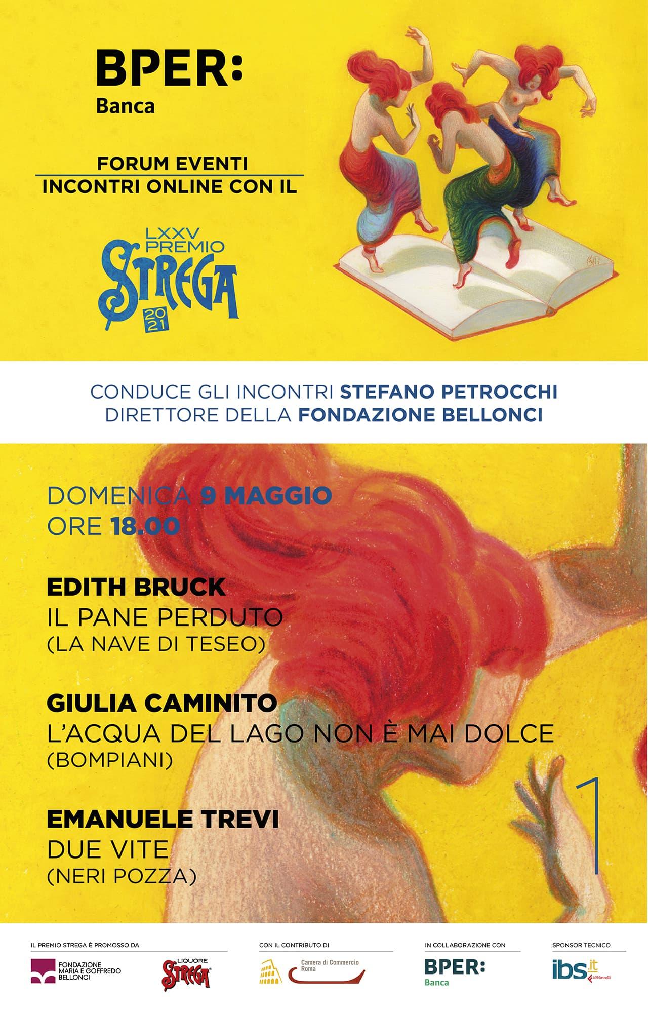 immagine perBPER Forum Guido Monzani incontro online con il Premio Strega 2021
