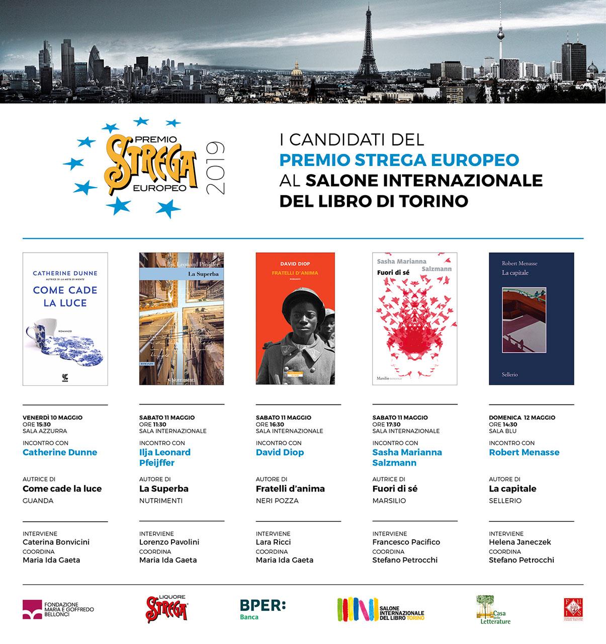 immagine per Il Premio Strega Europeo al Salone del Libro di Torino